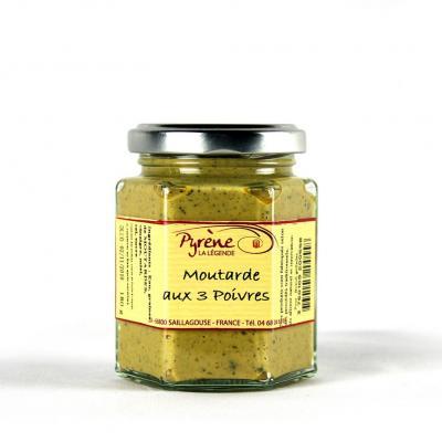 Moutarde aux 3 poivres 180 g