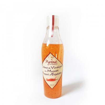 Crème de Vinaigre au Muscat et Piment d'Espelette