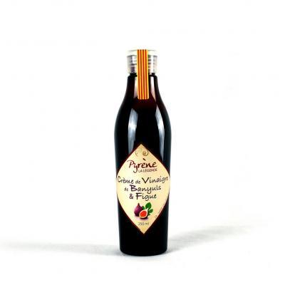 Crème de vinaigre au Banyuls et figue