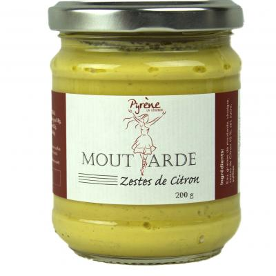 Moutarde aux zestes de citron